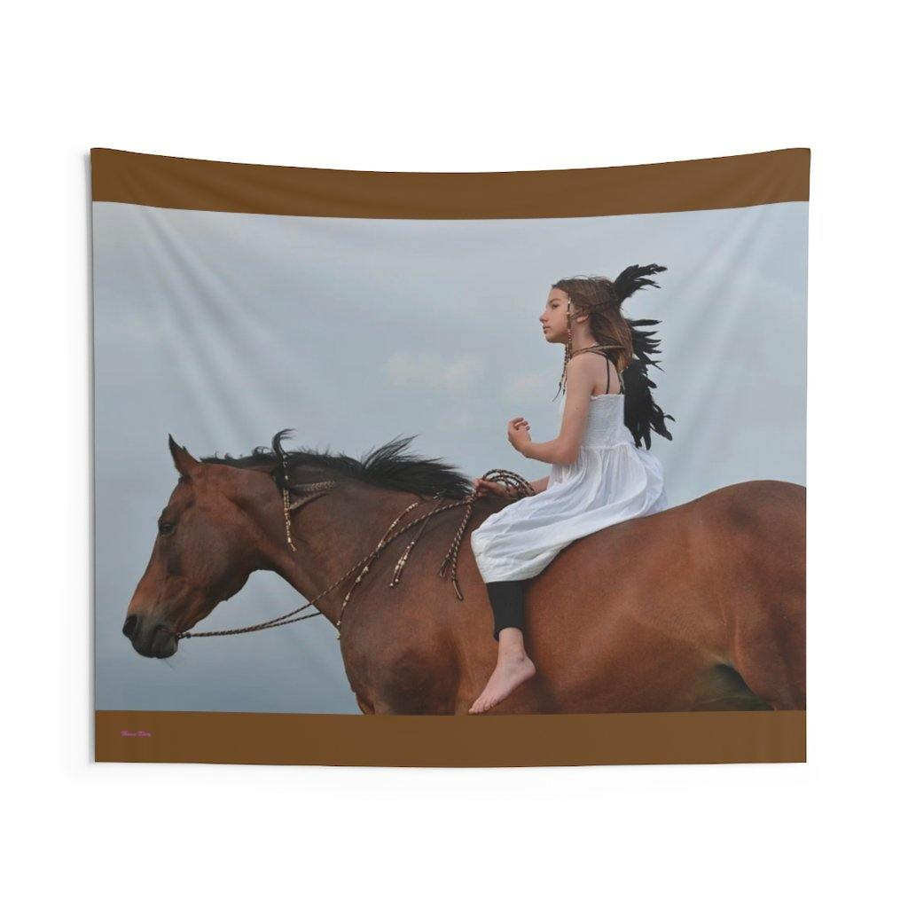 Native American Girl - Indoor Wall-Tapestries