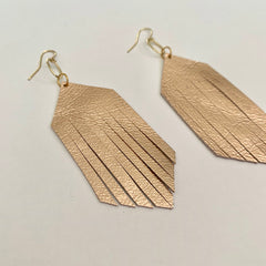 Forever Fringe Earrings - Rose Gold