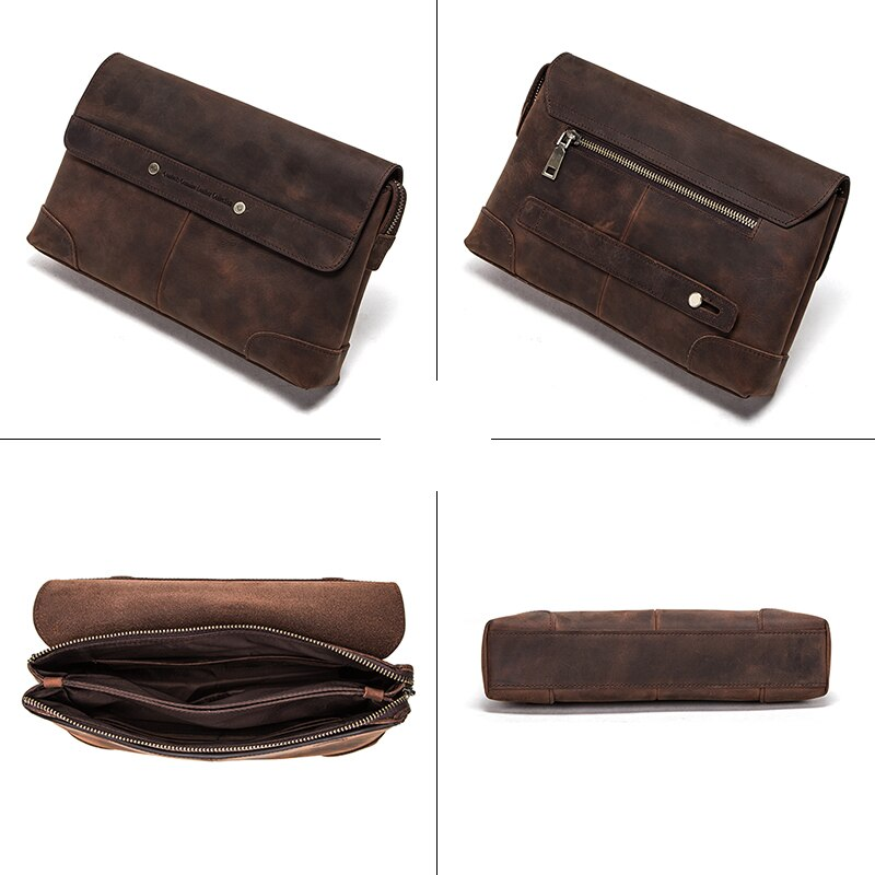 Leather Flap Clutch