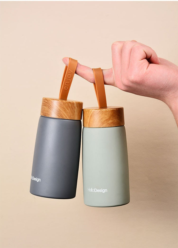 Bamboo Strap Thermos