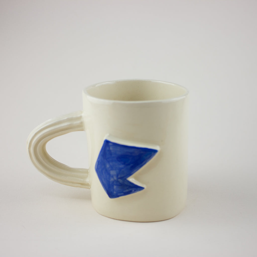 Mug Medium Blue Patterns. - Fleuro Studio Shop