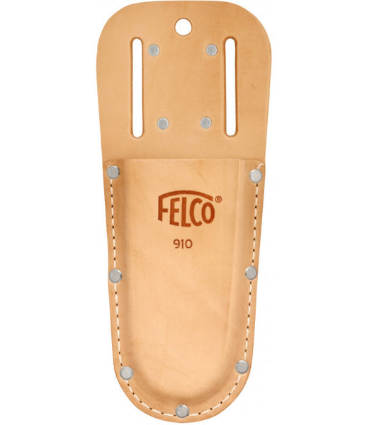 Felco 910 Leather Holster -  With belt loop and clip