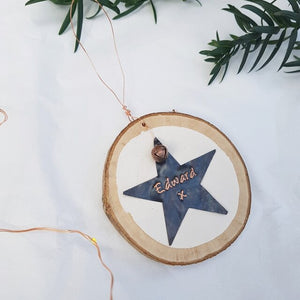 Personalised Copper Star Decoration