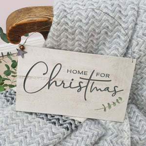 Home For Christmas Engraved Sign