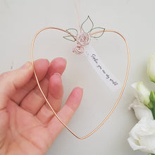 Load image into Gallery viewer, Personalised Copper Floral Heart