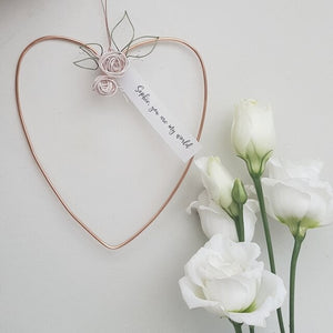 Personalised Copper Floral Heart