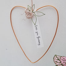Load image into Gallery viewer, Little Copper Floral Heart for Mum or Grandma