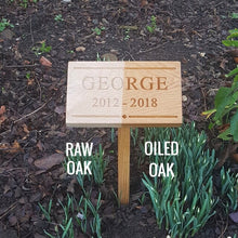 Load image into Gallery viewer, Classic Oak Memorial Plaque