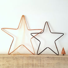 Load image into Gallery viewer, Copper Metal Star
