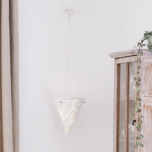 Cast Plaster Hanging Vessel
