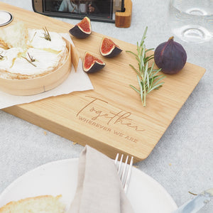 Engraved Oak Together Serving Board