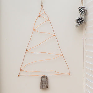 Copper Wire Christmas Tree Wall Hanging