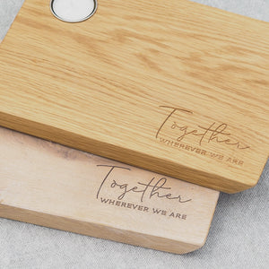 Engraved Oak Together Mini Serving Board