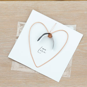 Copper Mistletoe Heart