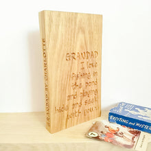 Load image into Gallery viewer, Personalised Engraved Oak Plaque