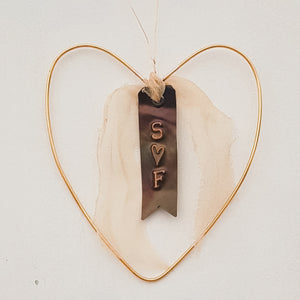 Personalised Little Copper Wire Heart
