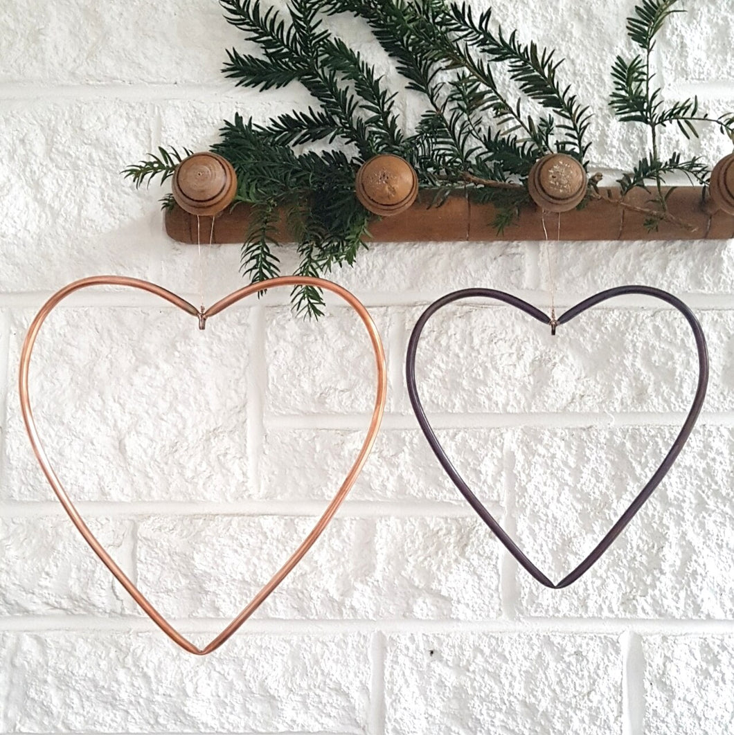 Copper Metal Heart