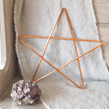 Load image into Gallery viewer, Rustic Five Pointed Copper Star