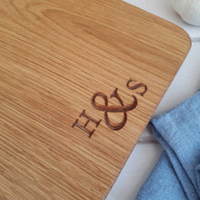 Load image into Gallery viewer, Personalise Engraved Oak and Copper Board