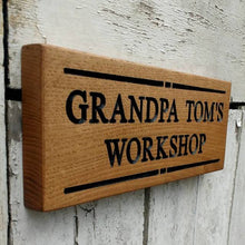 Load image into Gallery viewer, Personalised Engraved Oak Sign