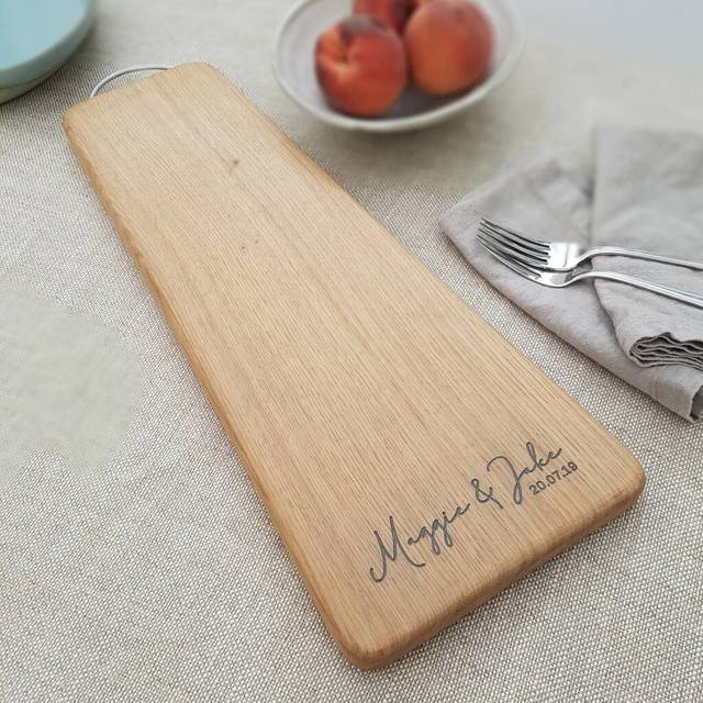 Contemporary Engraved Oak Chopping Board