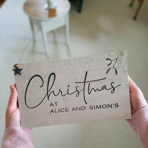 Personalised Engraved Christmas Sign