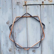 Load image into Gallery viewer, Copper Geometric Wreath