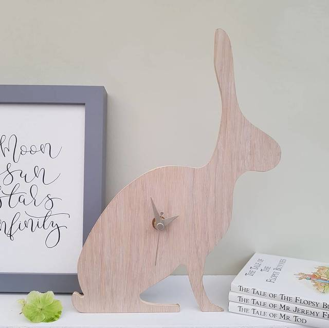 Oak Hare Clock