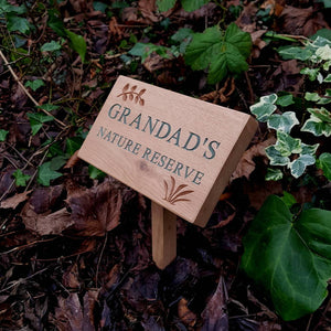 Personalised Engraved Natural Oak Plaque
