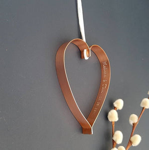 Copper Heart with Secret Message
