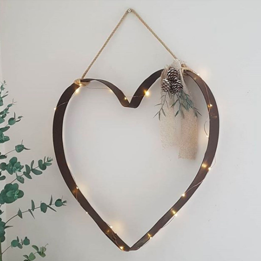 Whisky Barrel Hoop Heart