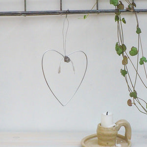 Aluminium Mistletoe Heart Decoration