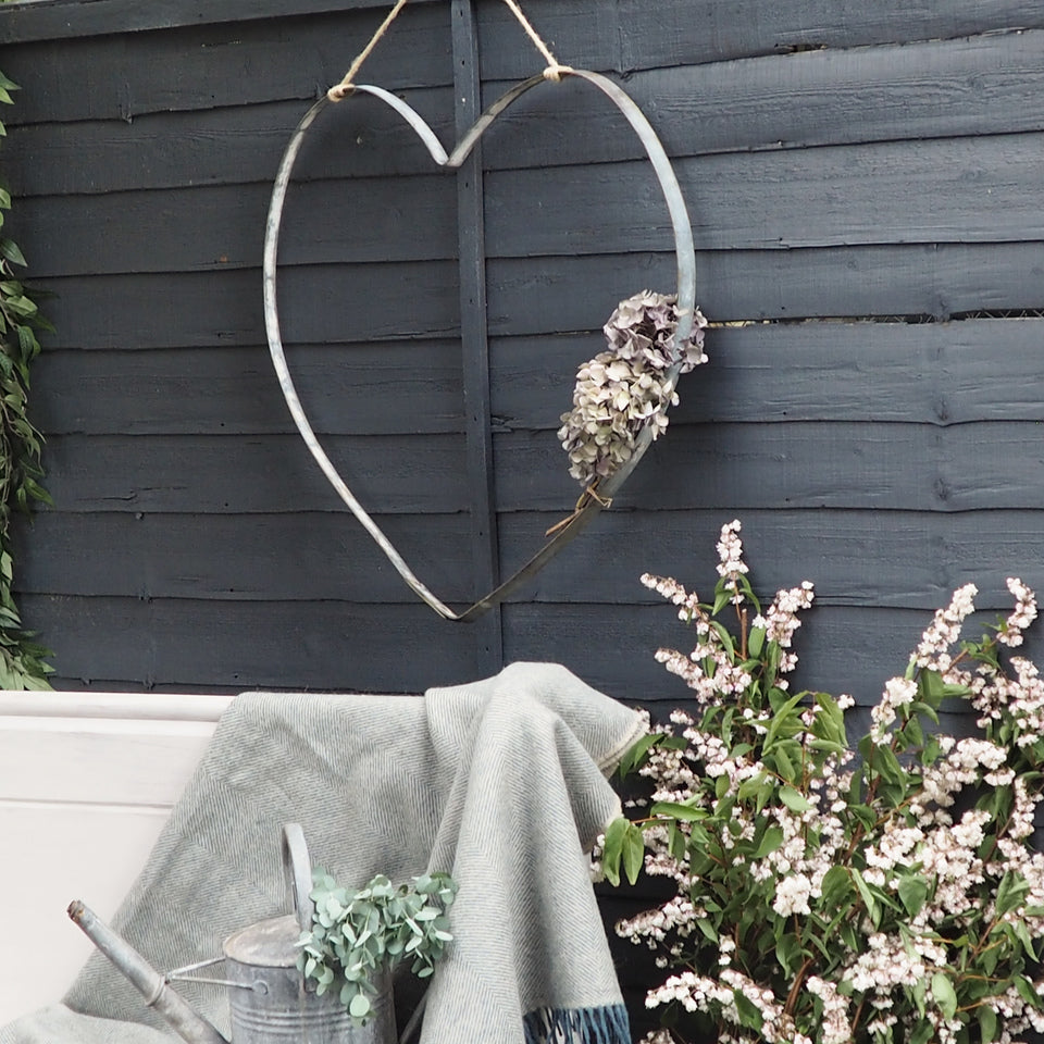 Galvanised Steel Whisky Barrel Heart