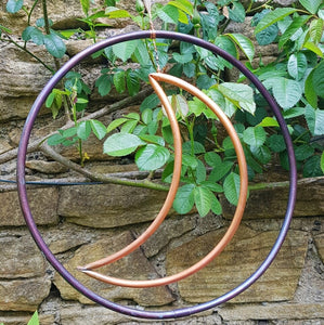 Copper Moon and Circle Wreath
