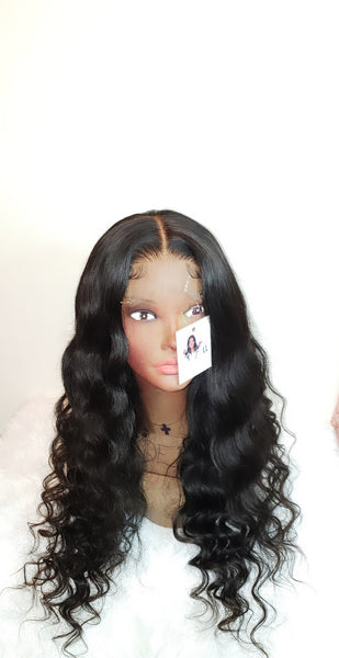 "24"" Custom HD Closure Bodywave Unit (Wand Curled for Style) HD Lace"