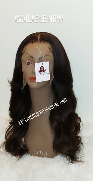 "22"" Layered Coco Custom Colored HD Frontal Wig (Sale)"