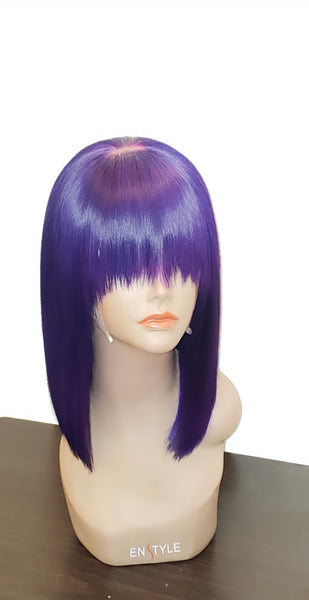 """PURP"" Custom Colored Frontal Bob"