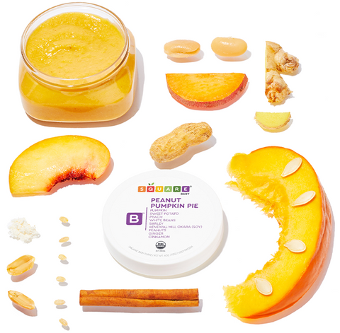 Pureed baby food by Square Baby and the ingredients - order online today!