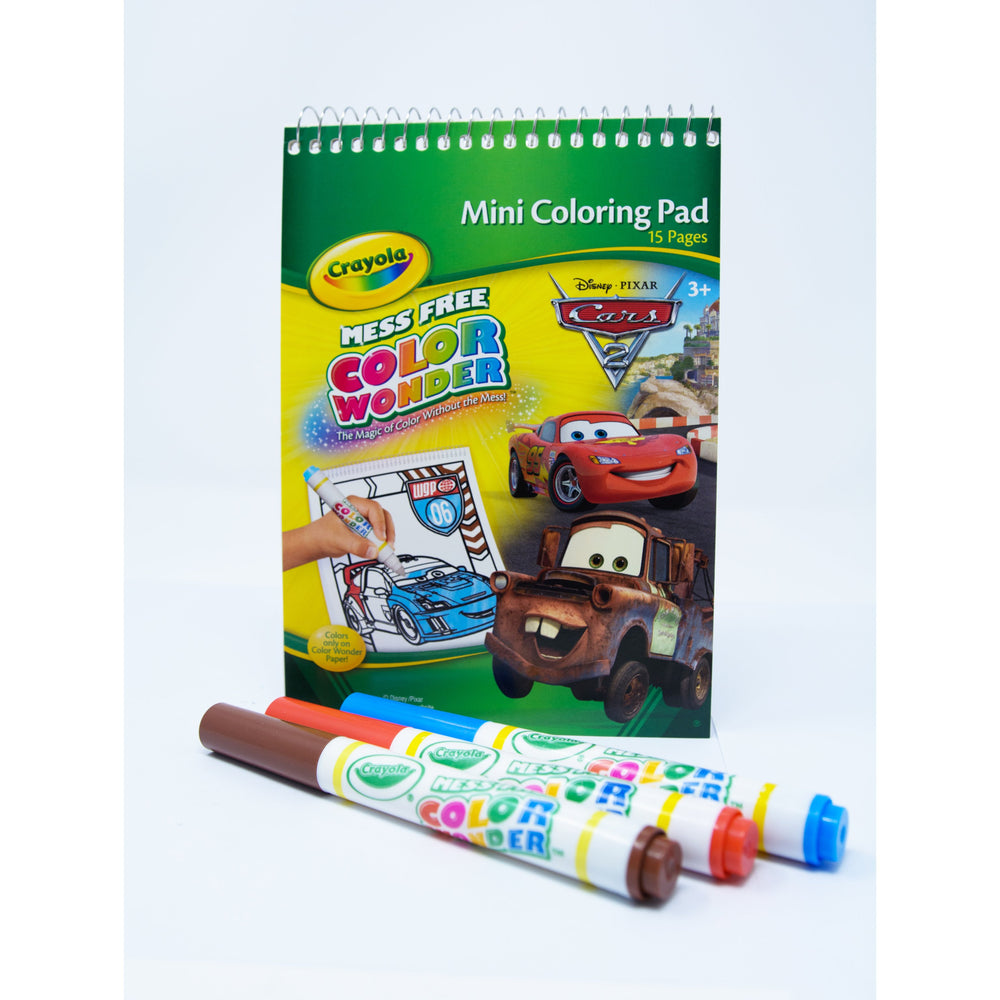 Color Wonder Mini Pack Cars 2 Crayola