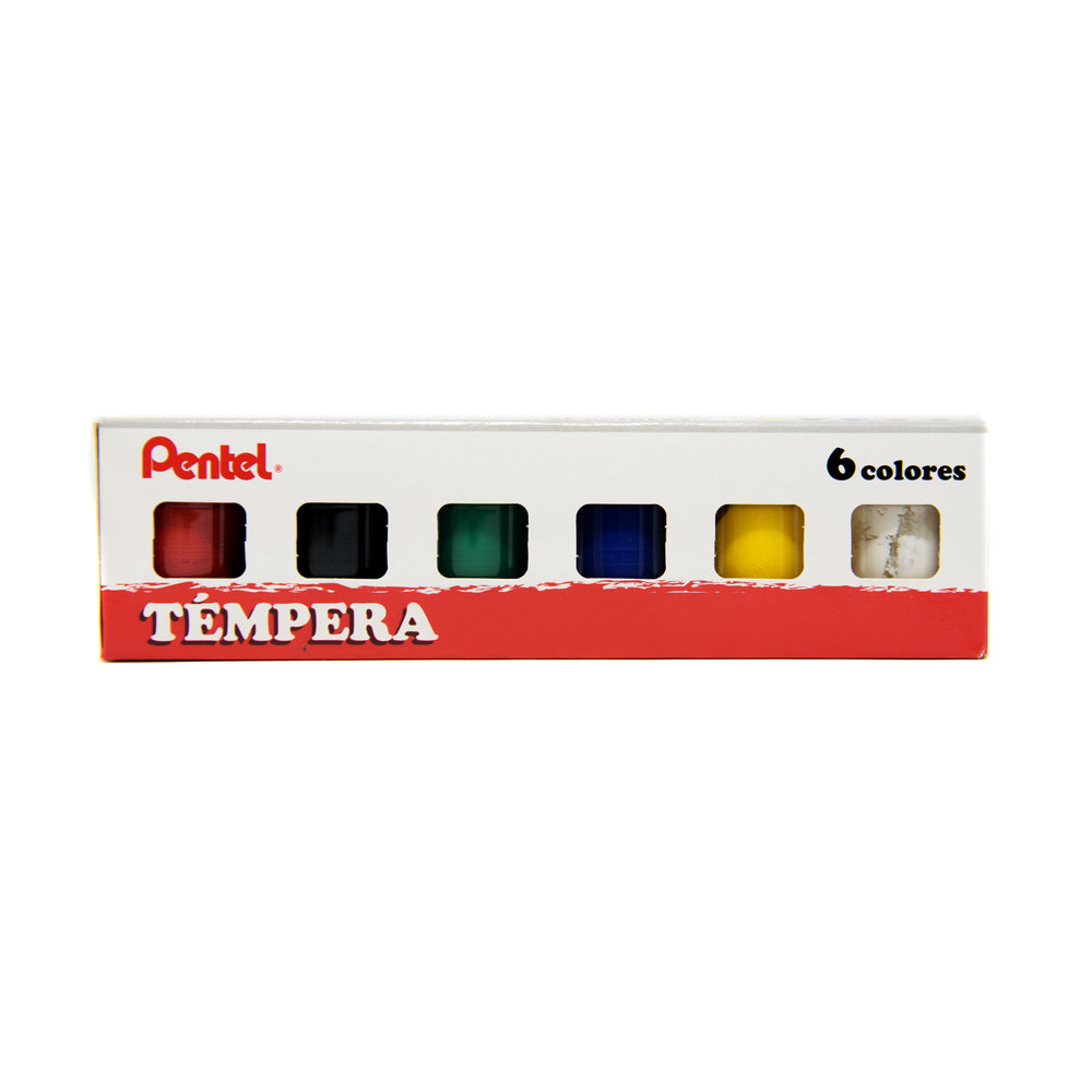 Témpera 6 Colores 15ml Pentel