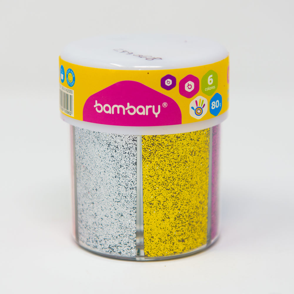 Escarcha De 6 Colores Metalizados 390-0145/050 Bambary