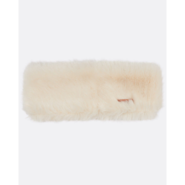 Fur Headband White