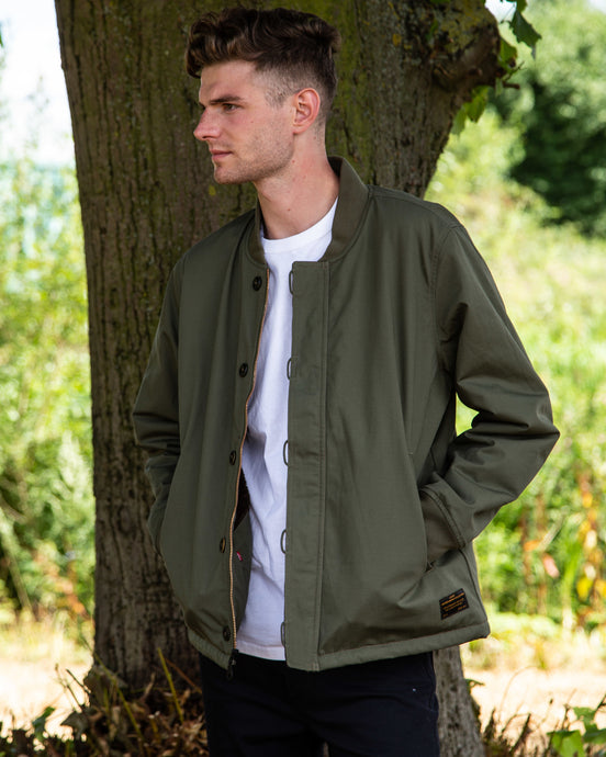 Levis Skate Pile Jacket Olive Night