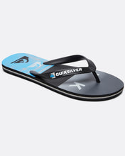 Load image into Gallery viewer, Quiksilver Molokai Wordblock Flip Flops