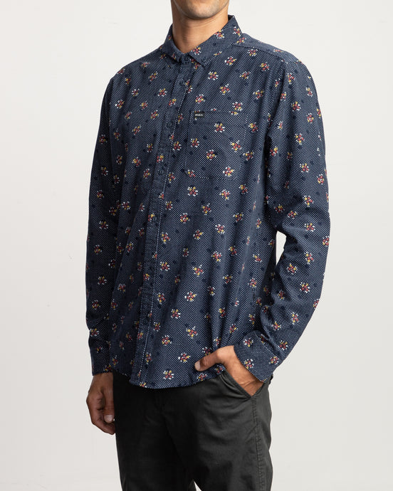 Rvca Post Wave Cord Long Sleeve Shirt