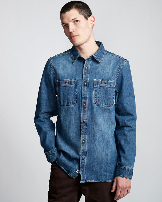 Element Pace Denim Long Sleeve Shirt