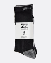 Load image into Gallery viewer, Billabong Sports Socks 3 Pack