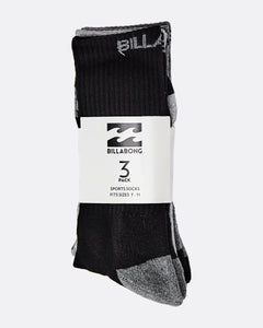 Billabong Sports Socks 3 Pack