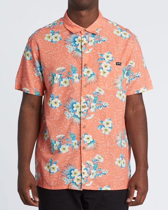 Billabong Sundays Floral Short Sleeve Top