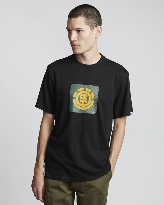 Element Leopard Block Icon Short Sleeve T-Shirt